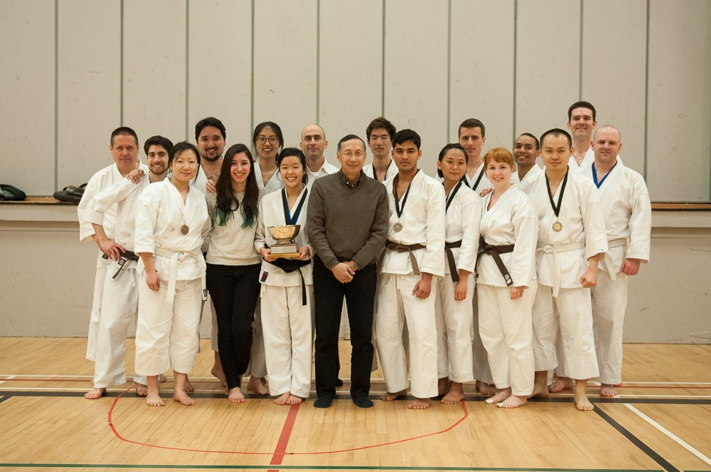 Godan Don Gee with members of the UBC dojo, after the tournament